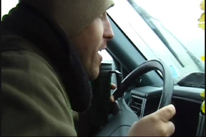 Bunki ohne Heizung im Bus, Kanada