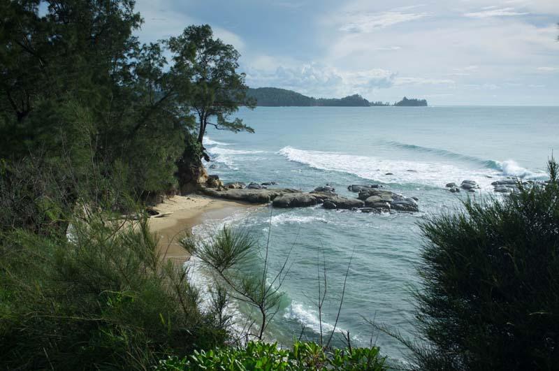 Ausblick von der Spitze Borneos