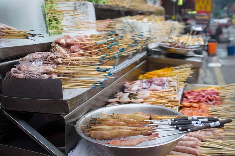 BBQ-Stand auf Jalan Alor