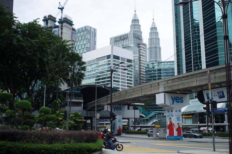 Stadtbild mit Petronas Towers