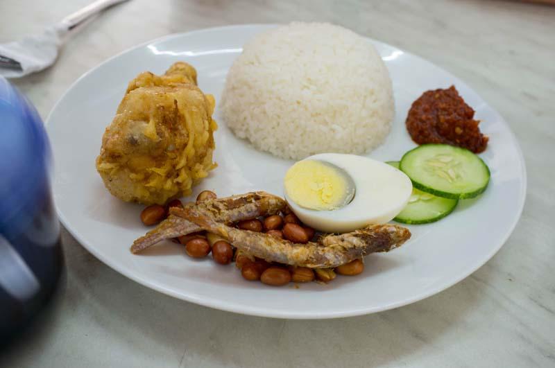 Typisches malaysisches Gericht Nasi Lemak
