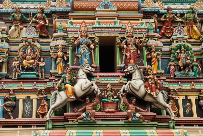 Details Indischer Tempel, Little India, Kuala Lumpur