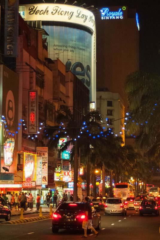Bukit Bintang in der Nacht, Kuala Lumpur