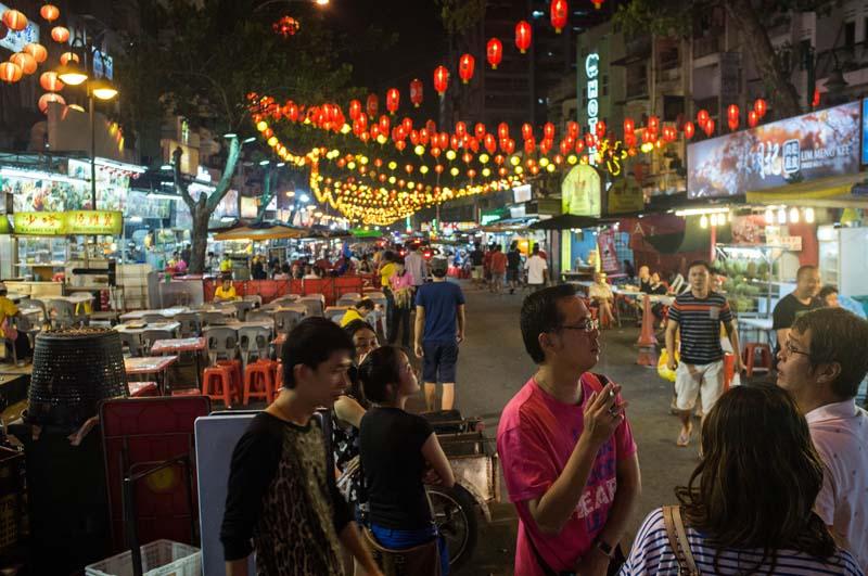 Straße der Köstlichkeiten Jalan Alor, Kuala Lumpur