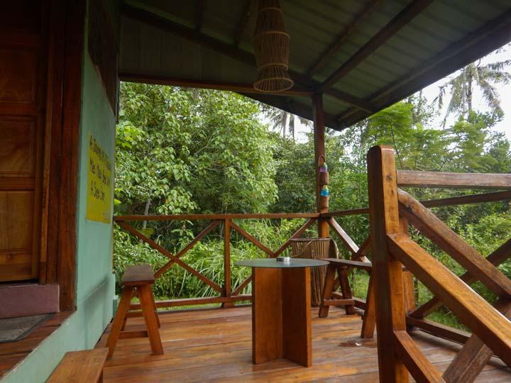 Terrasse der Kabine im Dschungelcamp