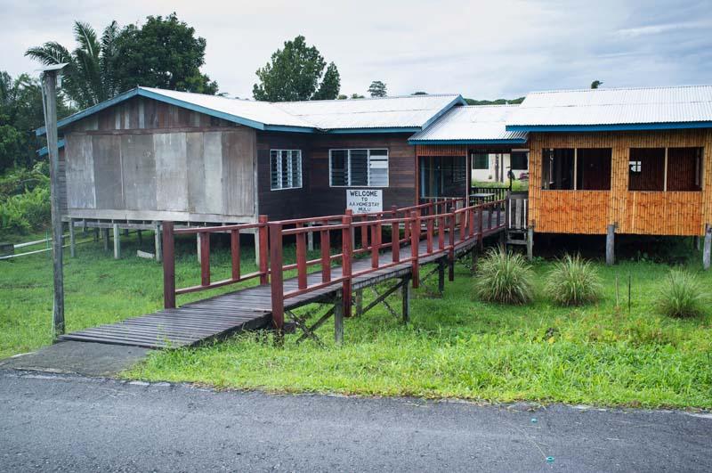 Unterkunft im Homestay in Mulu
