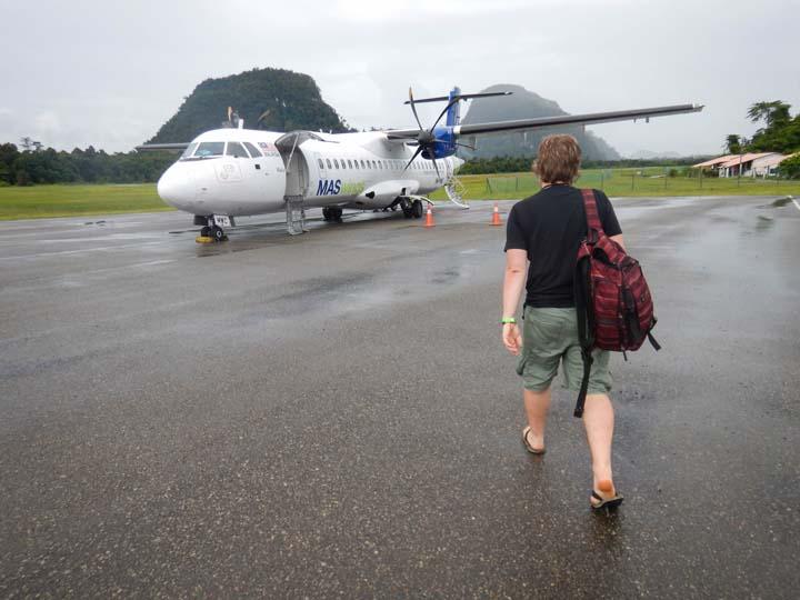Unterwegs zum Propellerflugzeug