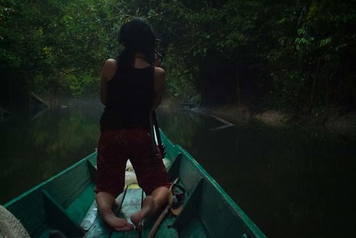 Anne filmt den Fluß, Mulu, Borneo Malaysia