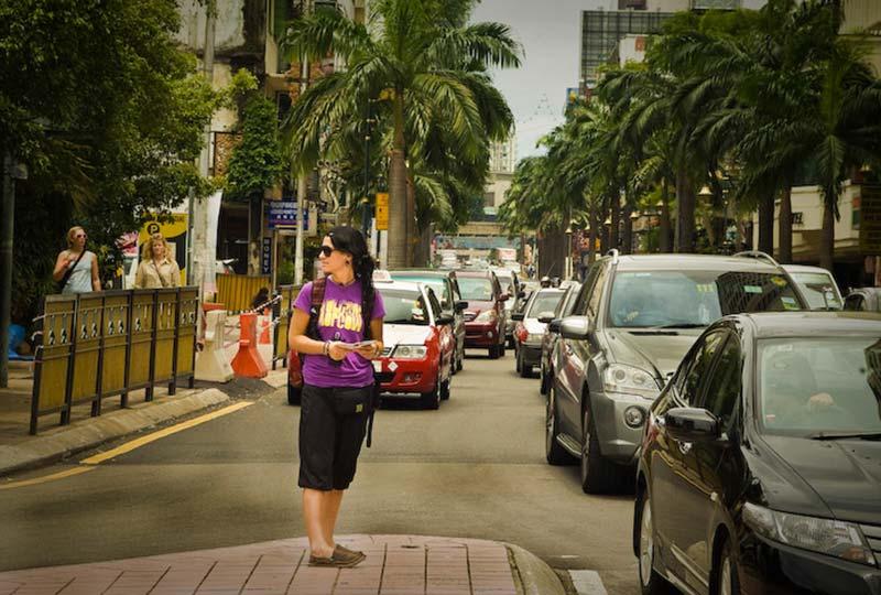 Anne ganz verloren, Kuala Lumpur, Malaysia