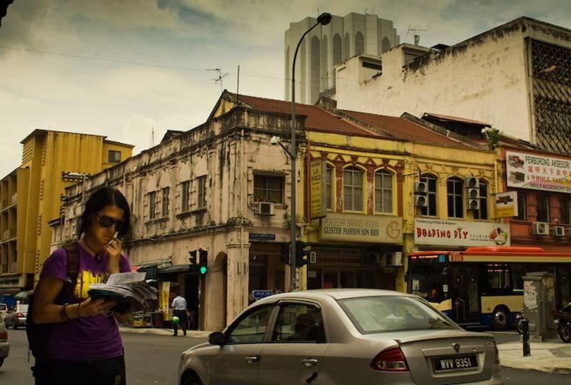 Anne hat sich verlaufen, Chinatown, Kuala Lumpur, Malaysia