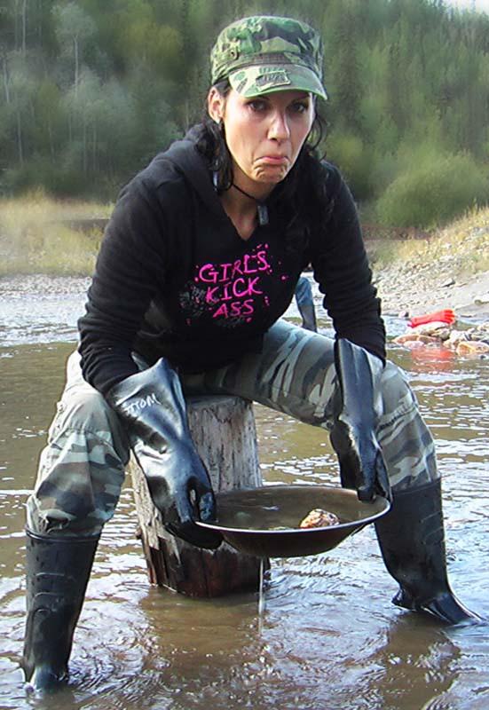 Auch Anne sucht Gold, aber ohne Erfolg, Dawson City, Yukon, Kanada