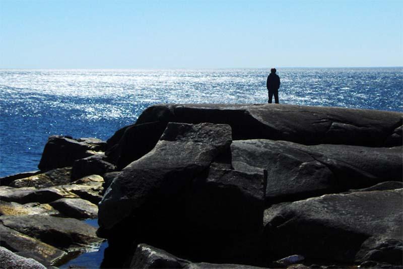Ausblick auf den Atlantik, Küste in Nova Scotia, Kanada