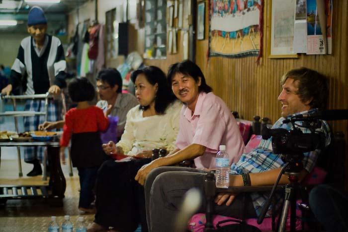 Bunki mit Victor und Angel, Iban Longhouse, nahe Betong, Borneo