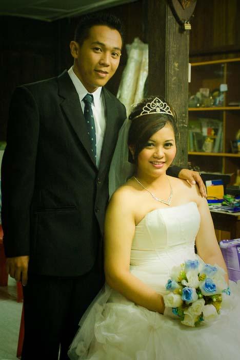 Das Hochzeitspaar, Iban Longhouse, nahe Betong, Borneo