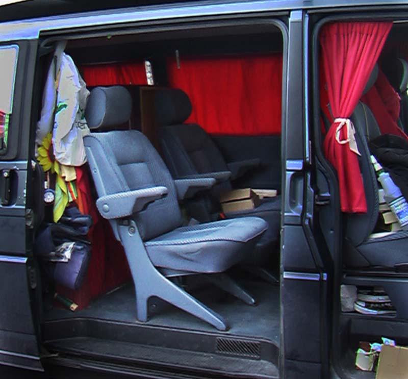 Der Bus ist für den Besuch bereit, Canmore, Alberta, Kanada