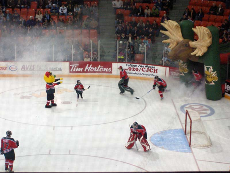 Blick aufs Icehockeyfeld