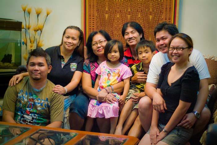 Eine nette Familie, Kuching, Borneo, Malaysia