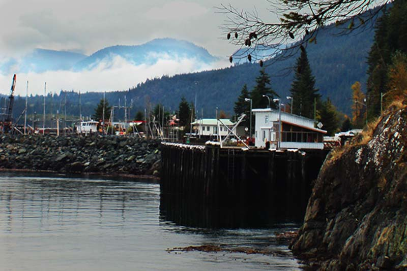 Fischereihafen auf Vancouver Island, British Columbia, Kanada