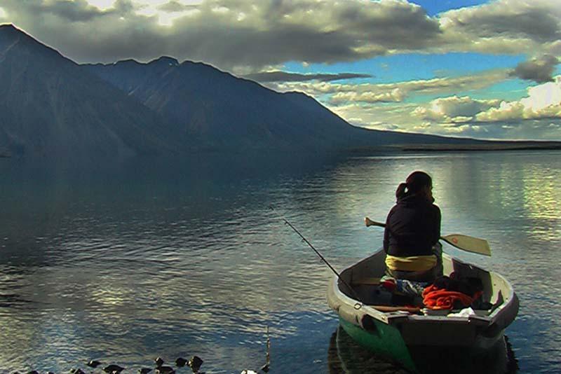 Im Kanu, Irgendwo im Yukon, Kanada
