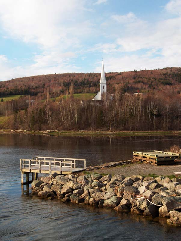 Kleine Kirche am Wasser, Cape Breton, Nova Scotia, Kanada