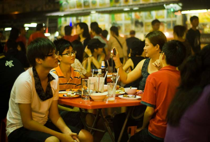 Leute im Restaurant, KL, Malaysia