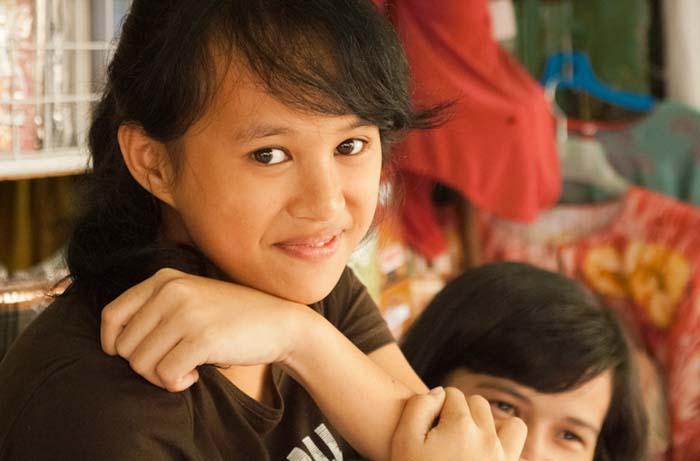Immer ein freundliches Lächeln, Sandakan, Borneo, Malaysia