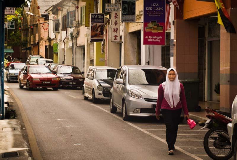 Moslem Frau in Kuching, Malaysia