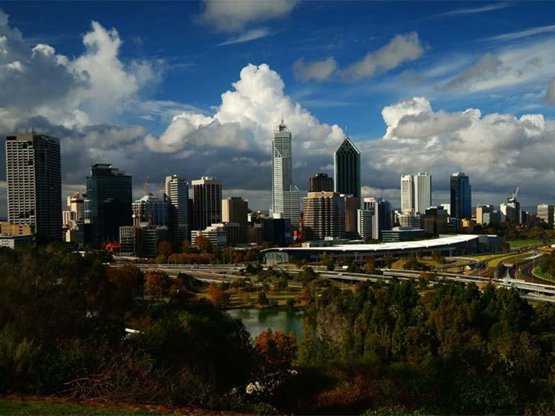 Skyline von Perth, Western Australia, Australien