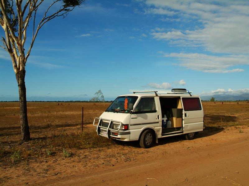 Sammy im Outback