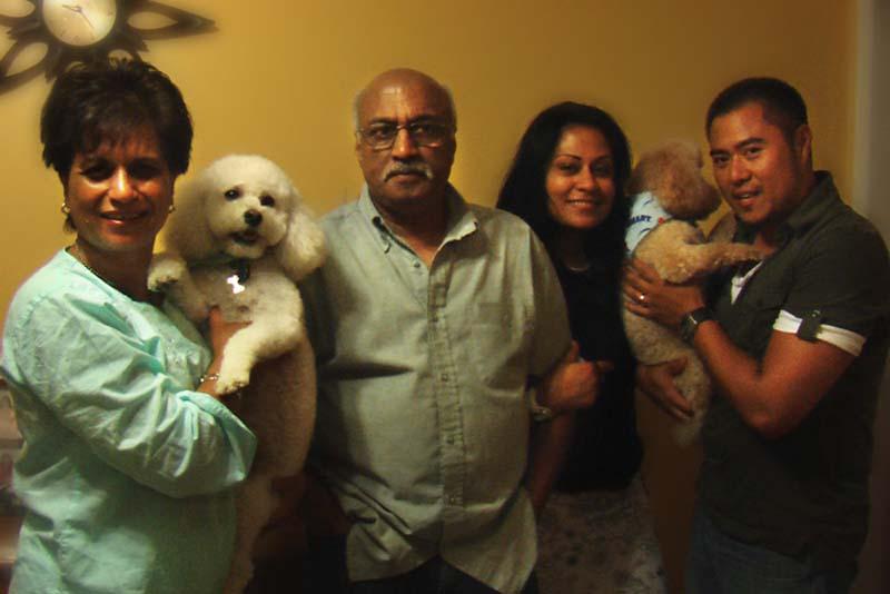 Shashi, Ashok, Reena and Jason, The most lovely family of the World, Toronto, Canada