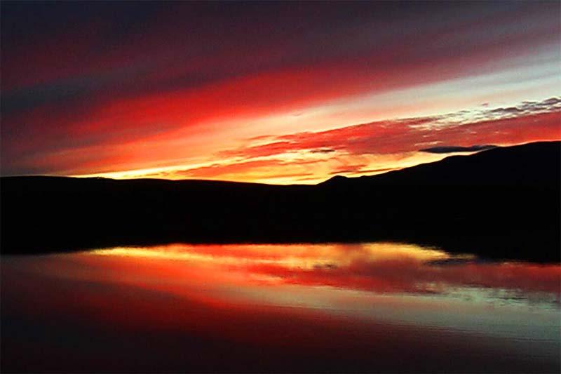 Sonnenuntergang, Yukon, Kanada