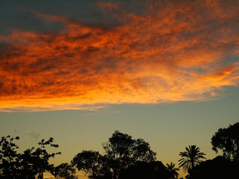 Sonnenuntergang am Homehill - Comfort Stop