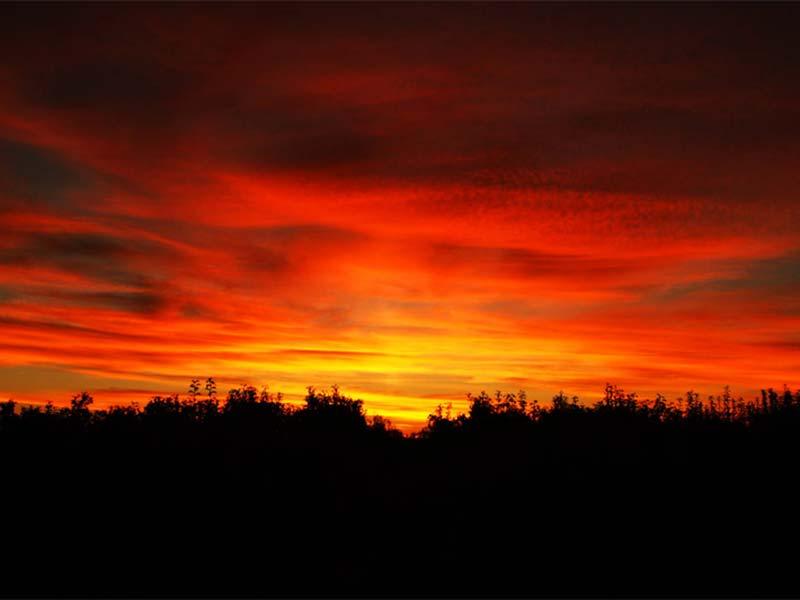Sonnenuntergang in Shepparton