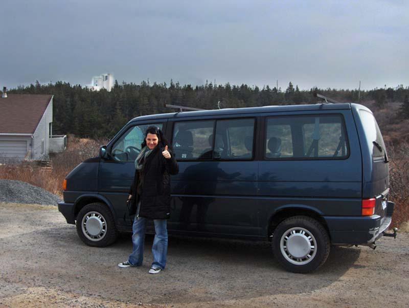Unser neues Auto, Sammy, Nova Scotia, Kanada