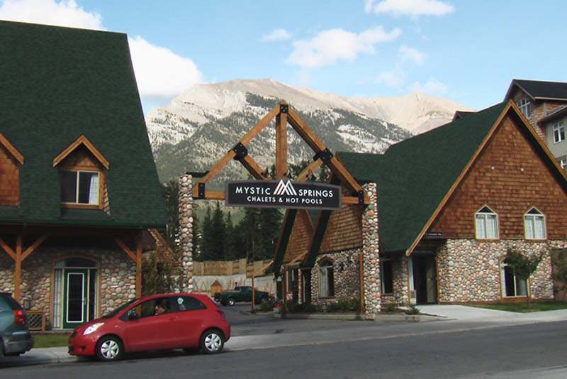 Unsere Arbeitsstelle in den Rockies, Canmore, Alberta, Kanada