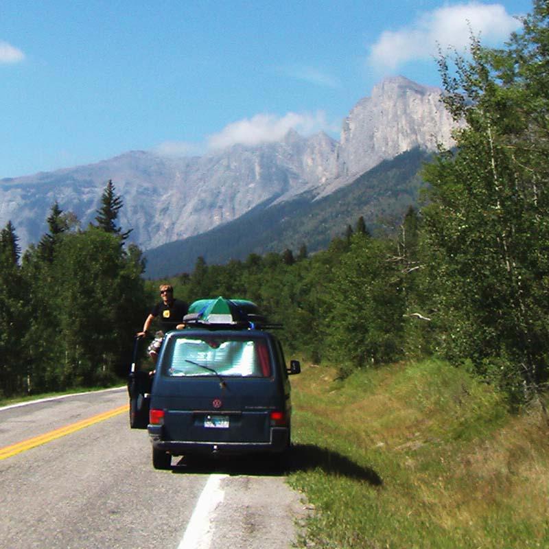 Wir haben die Rockies erreicht, Alberta, Kanada