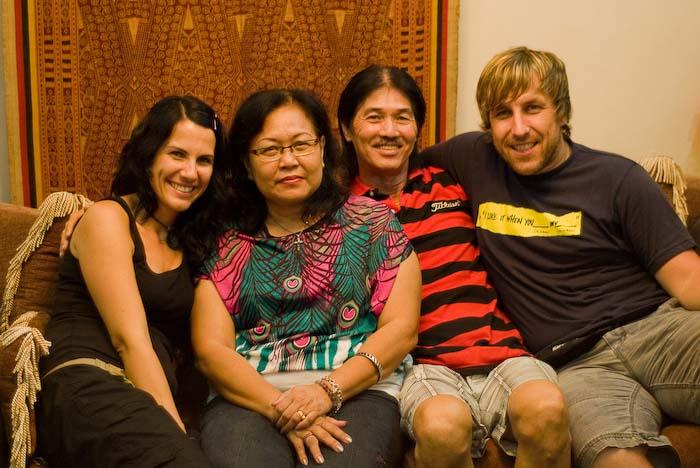 Wir mit Angel und Victor, Kuching, Borneo, Malaysia
