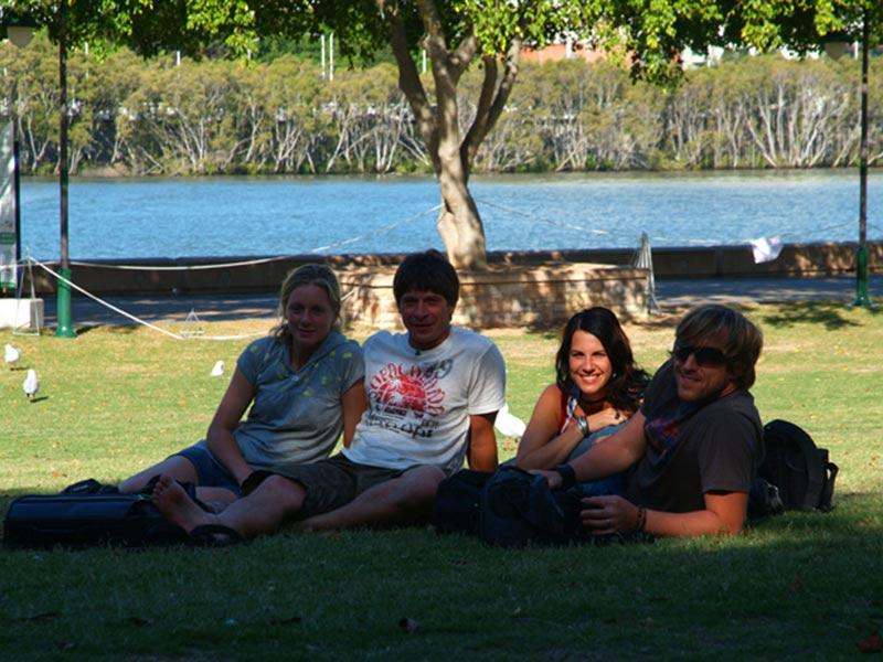 Wir mit Doeffi und Kolle in Brisbane
