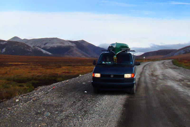 Wir rasten im Nichts, Yukon, Kanada