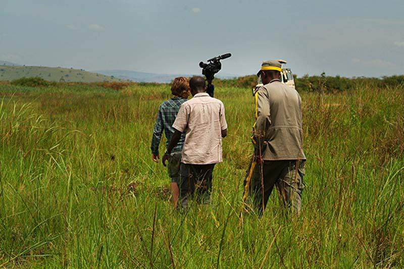 Bunki und die Ranger, Akagera Park, Ruanda
