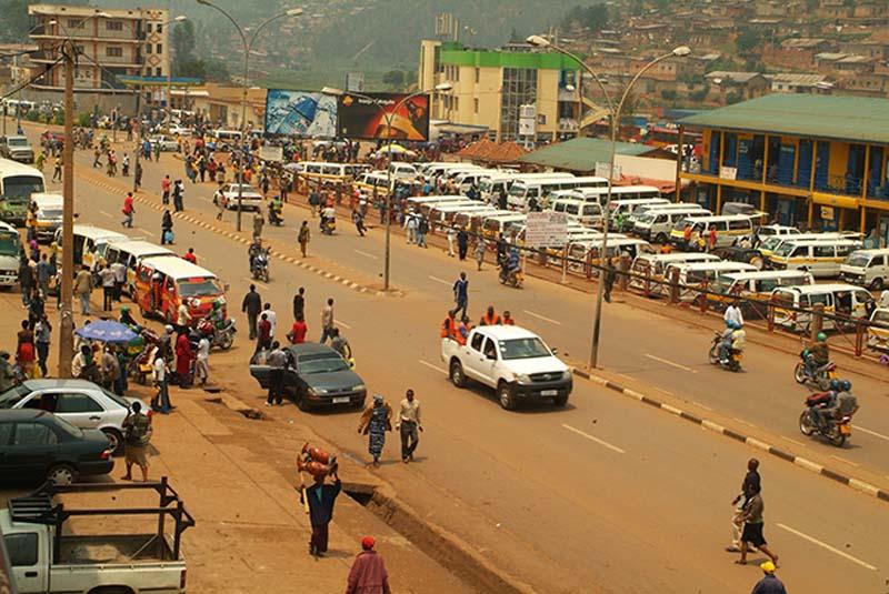 Busbahnhof in Kigali, Ruanda