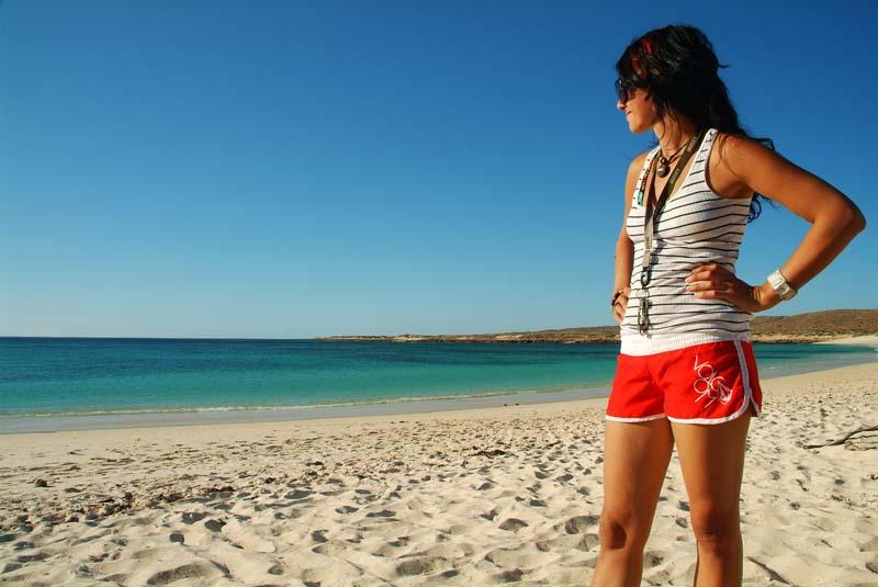 Anne am Strand, Cape Range NP, Australien
