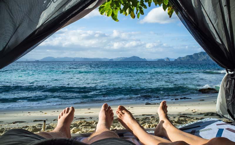 Insel bei El Nido, Philippinen