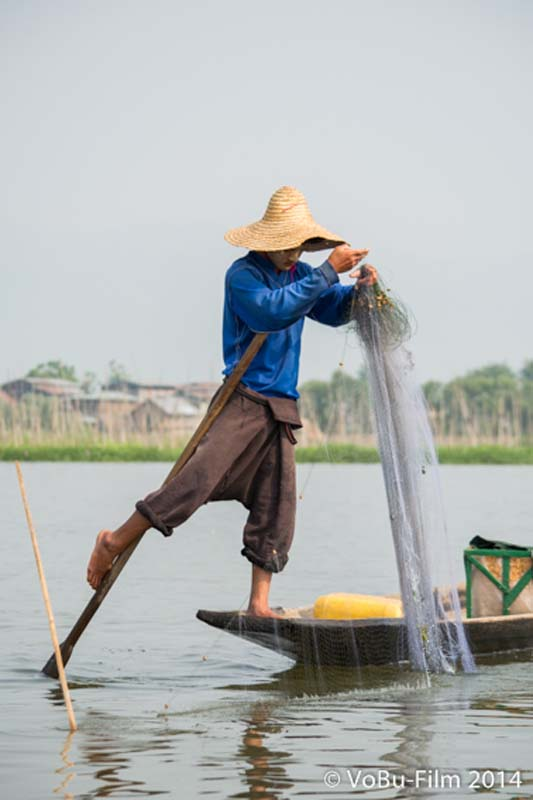 Fischer am Inle Lake, Myanmar