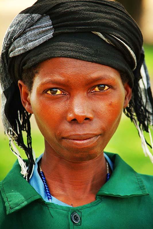 Frau mit Kopftuch, Gisenye, Ruanda