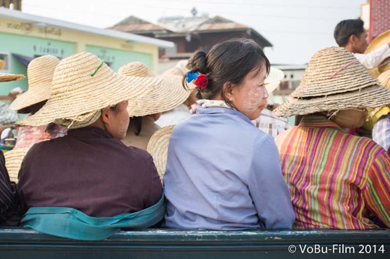 Frauentransport, Nyaungshwe, Myanmar