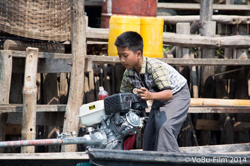 Früh übt sich, Inle Lake, Myanmar