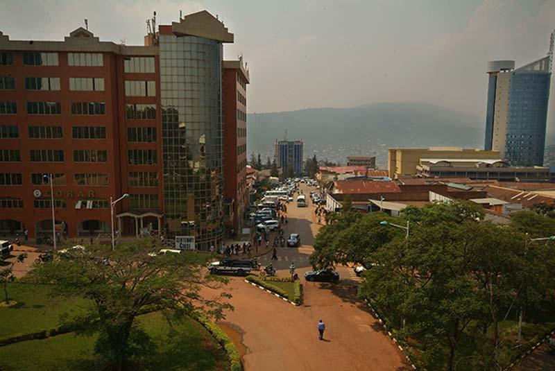Kigali von Oben, Ruanda