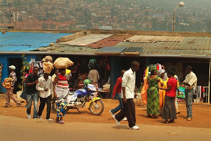 Marktleben in Kigali, Ruanda