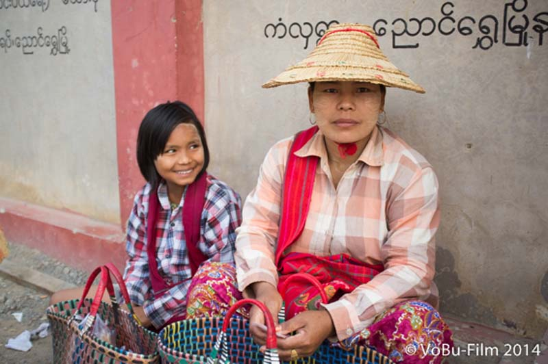 Mutter mit Kind, Nyaungshwe, Myanmar